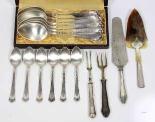 Set of coffee and soup spoon, among other things,