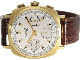 Watch: rare vintage 18K Gold Chronograph, Eberhard & Co, Ref. 29501, 1972, calibre Valjoux 72