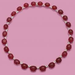 Magnificent jeweled necklace with rubies