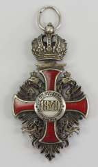 Austria: Imperial Austrian Franz-Josphe-Orden, knight's cross of the officer corps of the military command in Zagreb.