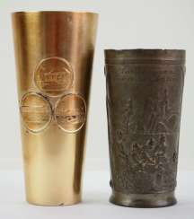 German South West Africa : Lot of 2 commemorative tumblers.