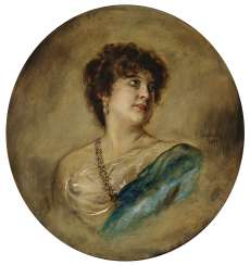 Portrait of the actress Marie Barkany (1862 - 1928).
