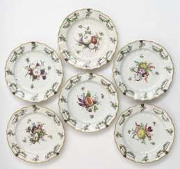 Six Fürstenberg plates, around 1768 - 1752