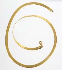 Ribbon Necklace - Yellow Gold 333