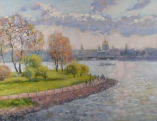 Saint Petersburg view of hare island autumn