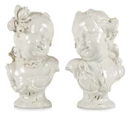 Pair Of Children Busts, Nymphenburg