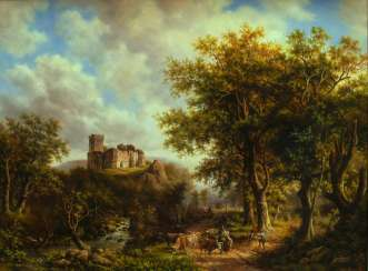 landscape with old castle