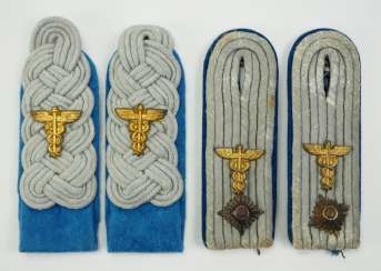 Wehrmacht: Pair of shoulder boards for a major and first lieutenant in the transport force.