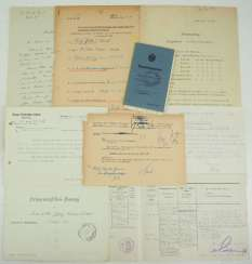 Documents from the estate of the Colonel Adolf Jäkel - knight's cross on 19.8.1944.