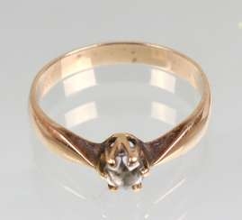 Ring with zirconia yellow gold 333