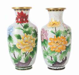 Pair Of Cloisonné Vases China,