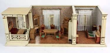 Doll's house with furniture around 1900