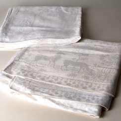2 table cloths around 1900.