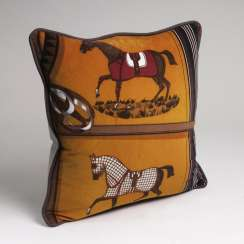 Exclusive pillow from Hermès decorative fabric