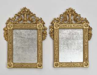 A pair of small mirrors, German, 18./19. century