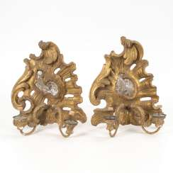 Pair of Baroque wall sconces with Mirrors