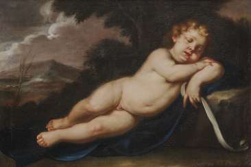 ITALY 17. Century. Sleeping Jesus Child