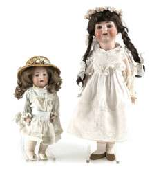 2 Porcelain Head Dolls