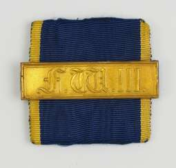 Prussia: long service decoration buckle, for 21 years, for non-commissioned officers.
