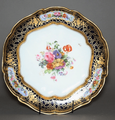 Plate. Imperial porcelain factory, 1840 - 1850s