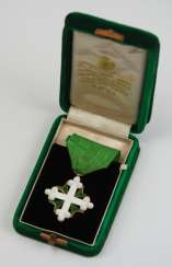 Italy: knight of the order of St. Mauritius and St. Lazarus, 3. Model (1868-1943), knights cross, in case.