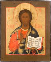 LARGE-FORMAT ICON WITH CHRIST PANTOKRATOR