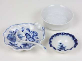 Meissen, 2 bowls, among other things,