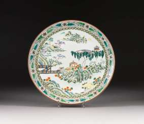 PLATE WITH LANDSCAPE SCENE