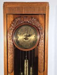 Outdoor clock with quarter chiming