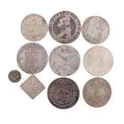 Very interesting 9-piece assortment of coins 17./18. Century. -