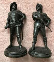 A pair of sculptures the Warriors. France, XIX century