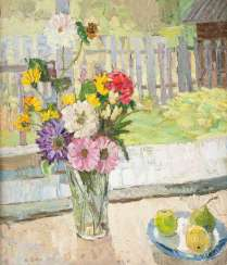 RUSSIAN PAINTER Active in the 20th century. Century. Still life with flowers