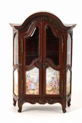Vienna Miniature display case with enamel painting