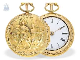 Pocket watch: exquisite, early repair, replace, double-housing Spindeluhr with Repetition, John Parke(s) London (1724-CA. 1744)