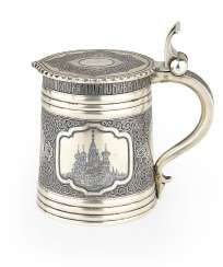A Silver Niello Tankard with Views of Moscow