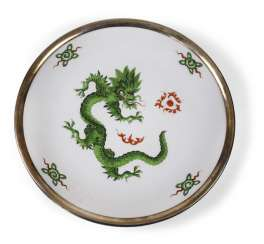 PLATE WITH DRAGON PATTERN,