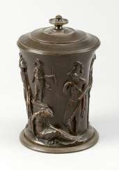 Empire Bronze Urn with lid, 19.century