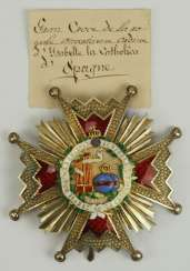 Spain: order Isabella the Catholic, 2. Model (1847-1868), Grand Cross Breast Star - Halley.