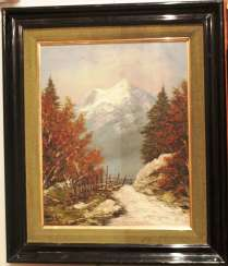 "The painting ""Mountain freshness""."