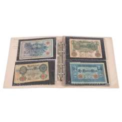 Album with dt. Bank notes -