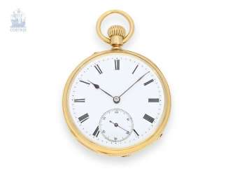 Pocket watch: extremely rare and technically highly interesting Patek Philippe men's watch with the Experimental plant No. 57107, are only a few of these works are known, of Geneva, for 1876