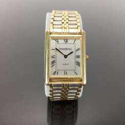 Heavy Mens Wrist Watch: Gold 585 / 14 K.