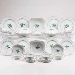 Dinner service 'Indian green' for 12 people