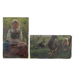 IMPRESSIONIST of the 19th century./20. Century, 2 Persons-Studies,