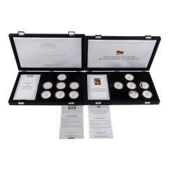 Compilation Germany silver commemorative medals