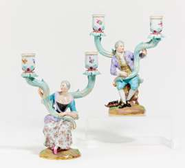 Pair of candlesticks with Figurenzier