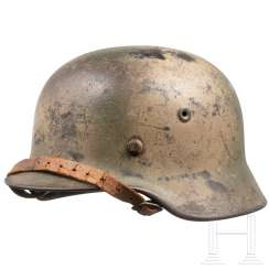 Steel helmet M 40 of the army with camouflage paint