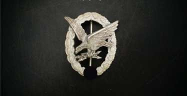 Luftwaffe radio operator badge zinc, late war production Steinhauer & Lück