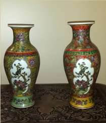 Vases paired with two cartouches