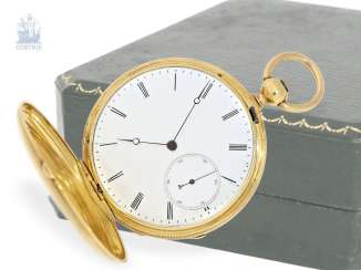 Pocket watch: very fine French apprentice watch in a special Work of art, signed Eleve de V. V., France, around 1850